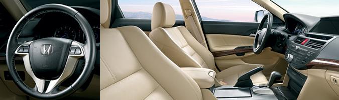 Располагайтесь поудобнее в отделанных первоклассной кожей сиденьях. Honda Crosstour