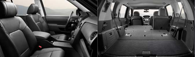 Комфортное внутреннее пространство внедорожника Honda Pilot