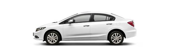 Honda Civic 4D - Taffeta White