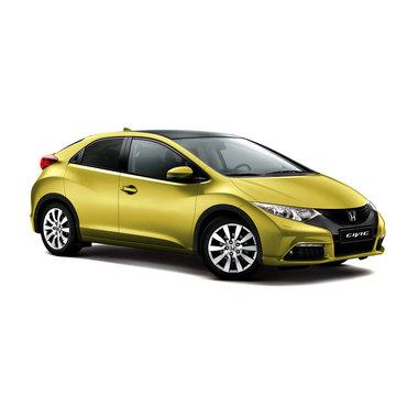 Honda Civic 5d желтого цвета