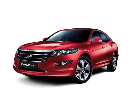 Honda Crosstour красного цвета