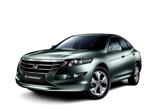 Honda Crosstour зеленого цвета